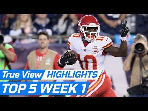 Chiefs vs. Patriots Best FreeD Plays | NFL Week 1 Kickoff Highlights