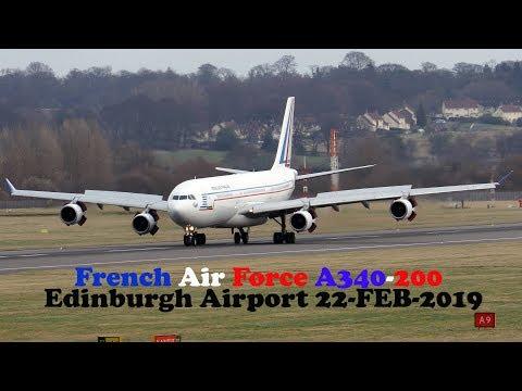 French Air Force A340-200 F-RAJB Edinburgh Airport [4K/UHD]