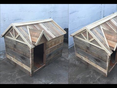CASA para PERRO de PALLETS // DIY PALLET DOG HOUSE