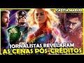 JORNALISTAS SURTAM COM CAPITÃ MARVEL E REVELAM CENAS PÓS-CRÉDITOS
