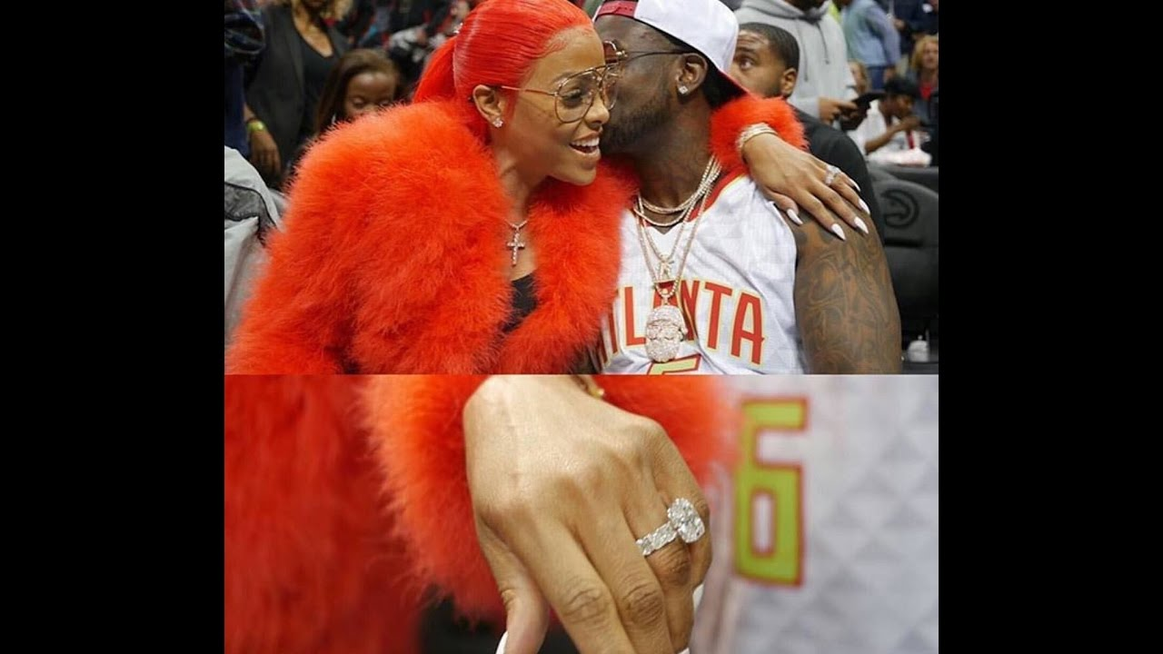 Video of Gucci Mane Proposing to Keyshia Ka'oir at Hawks Game
