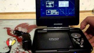 sylvania portable dvd player 001.MOV