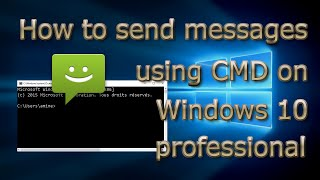 how to send message using cmd  in windows  7