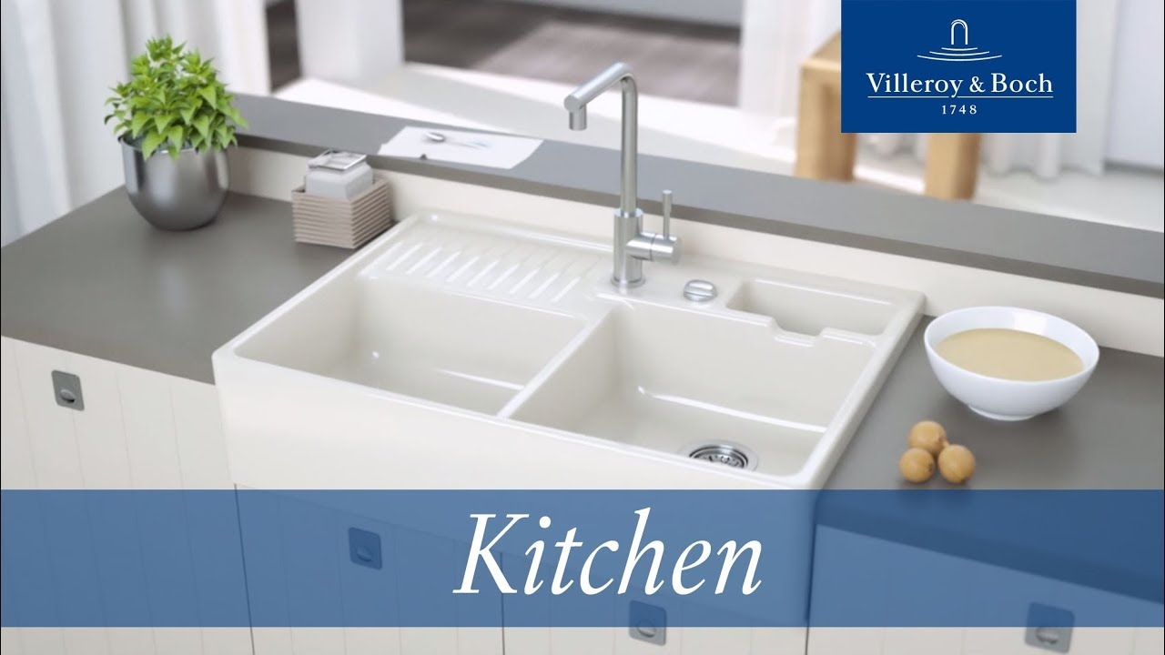 Installation Butler Sinks Villeroy Boch Youtube