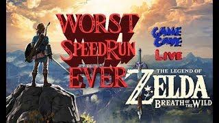 BOTW Worst Speedrun Ever (Not a speed run) - Game Cave Live