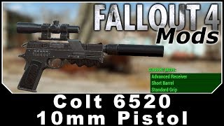 Fallout 4 Mods - Colt 6520 10mm Pistol