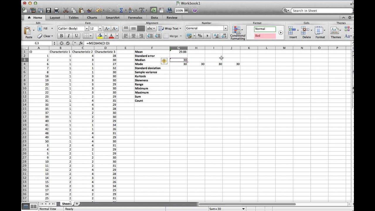 descriptive statistics excel mac  Descriptive statistics on a Mac - YouTube
