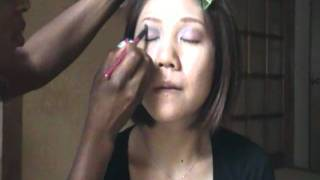 Doing makeup for my Japanese friend,check it out...