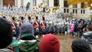 """Notre Dame Band performs """"Notre Dame Victory March"""" at Bond Hall"""