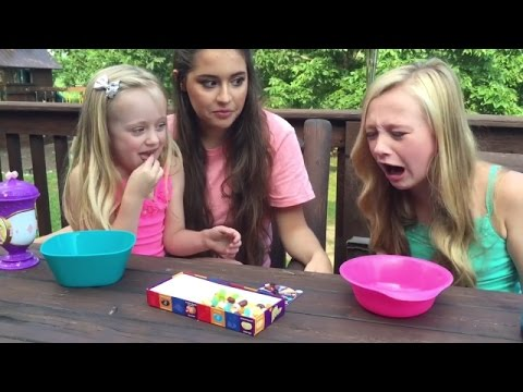 4th edition Bean Boozled challenge. Princess Ella & Play Doh Girl vs older cousin. Gross new flavors