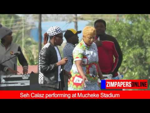 Seh Calaz performing at Mucheke Stadium