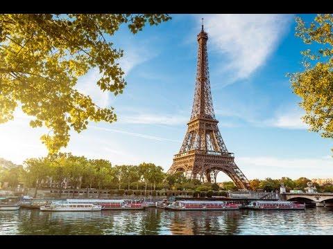 Париж Эйфелева Башня Пешком  (Видео Турист)