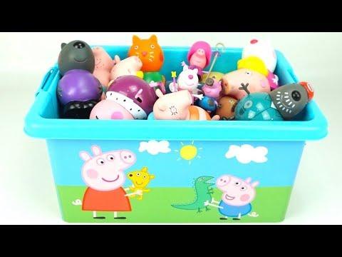 Сюрпризы и игрушки Свинка Пеппа  Коллекция игрушек Свинка Пеппа  Детскии канал, видео для детеи