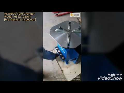 """HKUNICO H522   22"""" Automatic Tyre Changer [Pre-Delivery Inspection]"""