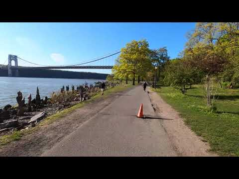 ⁴ᴷ⁶⁰-cycling-nyc-(narrated)-:-hudson-river-greenway-to-inwood,-manhattan-(may-13,-2020)