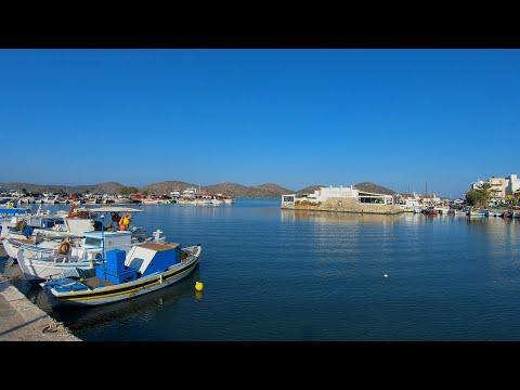 Walking In Elounda, Crete ☀️| Greece - 4K60