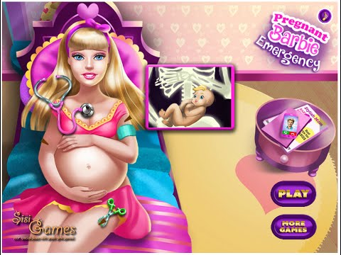 Barbie Games -  Barbie Pregnant Emergency Games