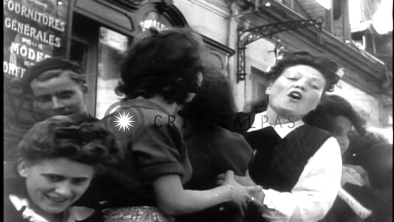Liberated civilians cheer arrival of the american troops in lyon southern france hd stock footage youtube