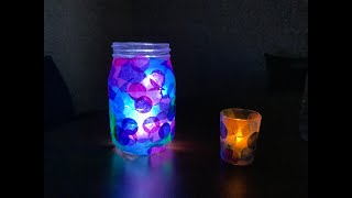 video thumbnail: DIY @ Home: Stained Glass Votive Candle Holder