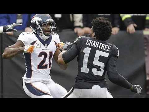 AQIB TALIB AND MICHAEL CRABTREE FIGHT!! RAIDERS VS BRONCOS (2017)
