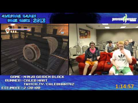 Ninja Gaiden Black - Speed Run in 2:06:35 by Caleb H. (Awesome Games Done Quick 2013)