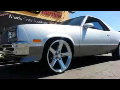 Chevy El Camino On 22 Iroc Wheels N Motion Youtube