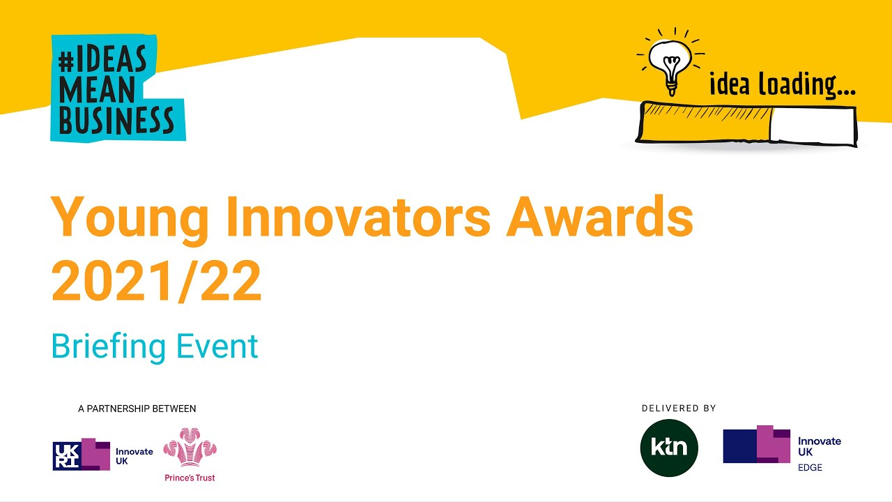 Young Innovators Awards 2021/22 is now open for applications!