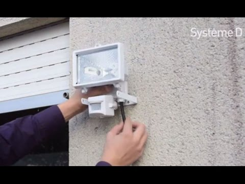 Comment installer un projecteur ext rieur d tecteur de for Lumiere maison exterieur