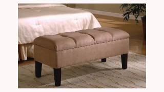 Contemporary Button-tufted Design Storage Bench