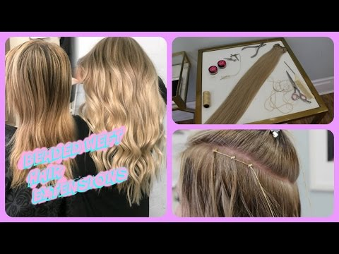 BEADED WEFT HAIR EXTENSIONS | HIGHLIGHTS & HAIR PAINTING