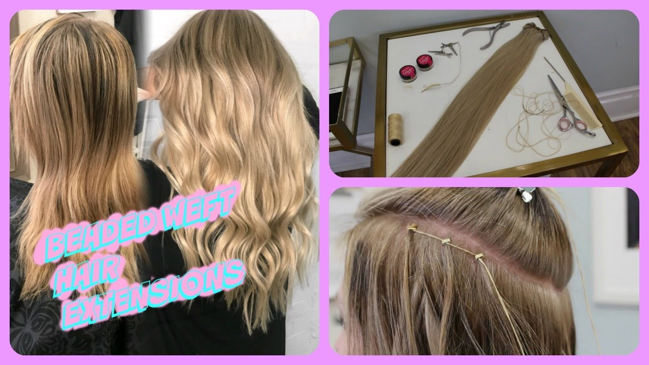 Beaded Weft Hair Extensions Highlights Hair Painting Youtube