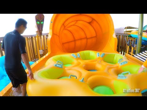 [4k] Round Raft Water Slide Ride - Volcano Bay Water Park - Universal Orlando