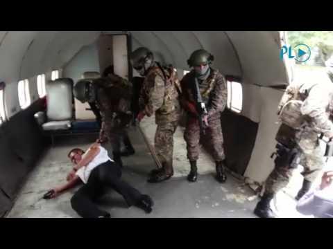 Así fue el simulacro del secuestro de un avión en Guatemala