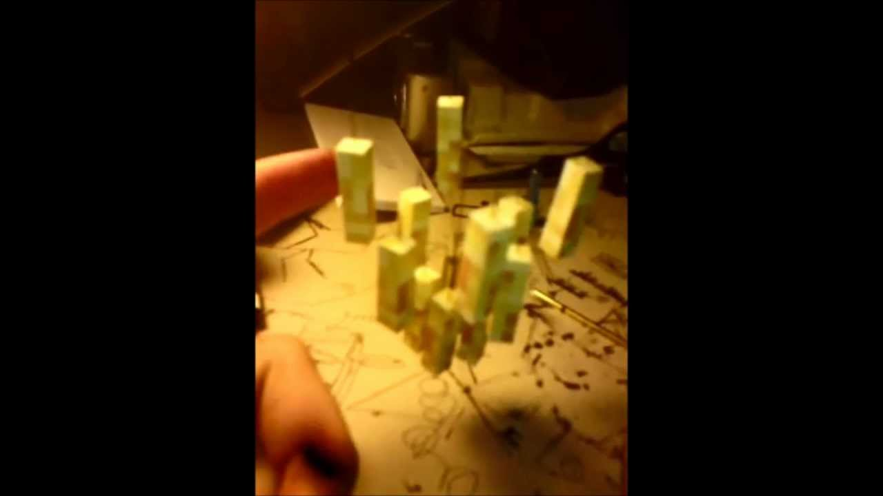 How to make the stand for minecraft papercraft blaze (english and ...
