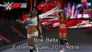 WWE 2K15 (PS4) Brie Bella Extreme Rules 2015 Attire