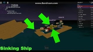 PEOPLE WEARING LIFE JACKETS THAT GLITCHES LIFEBOATS - Sinking Ship ROBLOX