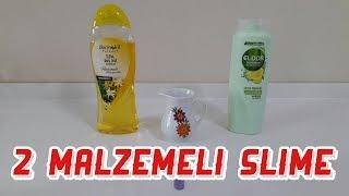 SU, Sıvı Sabun ve Elidor şampuanla boraksız, tutkalsız slime yaptık.
