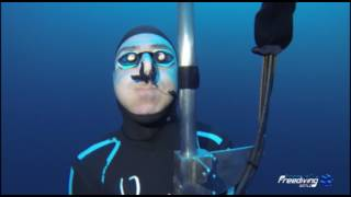 TheDeepDiveProject - Spitting air at 175 mt - No Limits Training Dive - 175 Mt