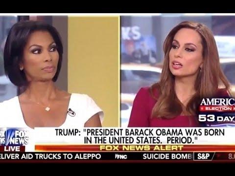 Julie Roginsky Challenges Harris Faulkner on Trump Birther Issue - 9/16/16 - Fox News