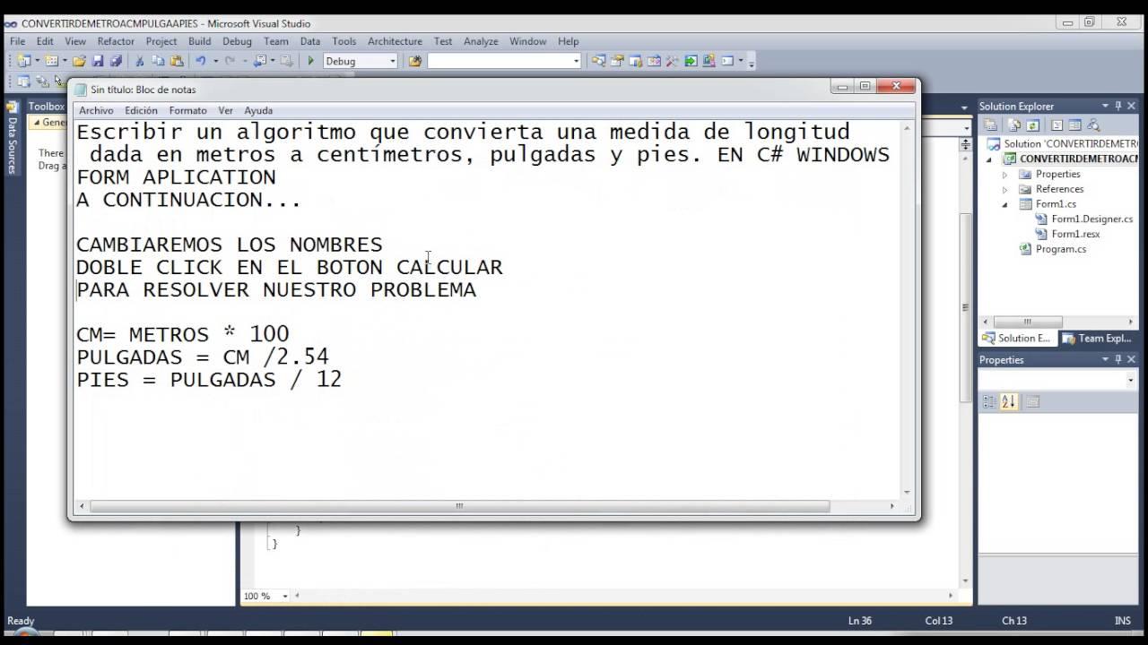 CONVERTIR DE METROS A CENTIMETROS PULGADAS Y PIES EN ...