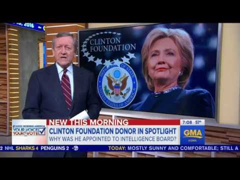 Quid Pro Quo? Clinton Foundation Donor Appointed to Sensitive Intelligence Board