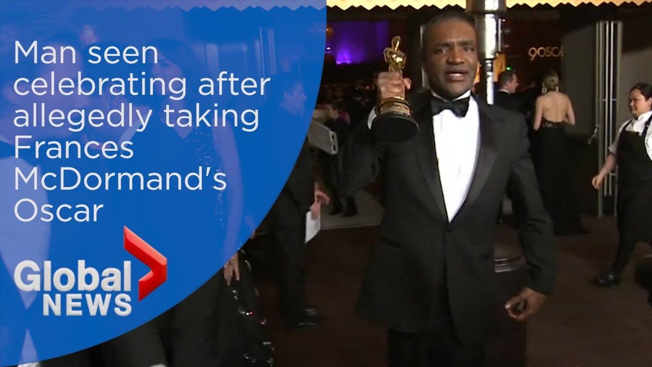 Academy Awards 2018: Man seen celebrating after allegedly taking Frances McDormand's Oscar