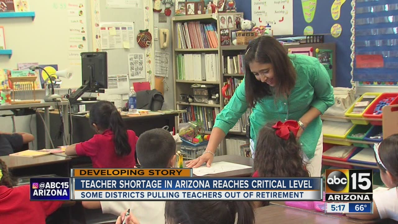Image result for Arizona teacher shortage