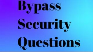 How to bypass minecraft security questions and change skin