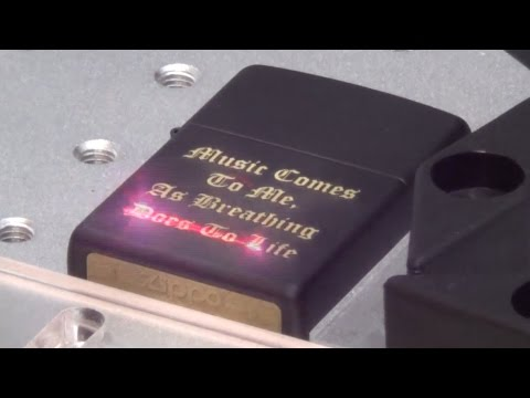 Black Matte Zippo Engraved How Its Done Laser Engraving Youtube