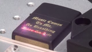 Black Matte Zippo Engraved - How It's Done ( Laser Engraving )
