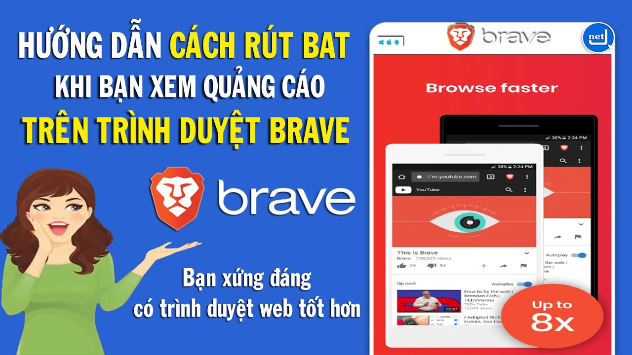 JQnet | Cách rút BAT trên trình duyệt Brave khi xem quảng cáo