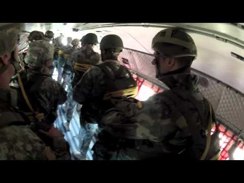 US Army Cadets Conduct Airborne Training With The Spanish Army