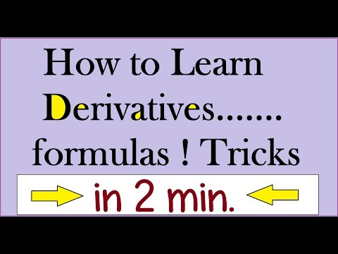 Differentiation formulas !!Easily : Derivative Formulas:Calculus 1 [ IIT JEE Maths Tricks in Hindi ]