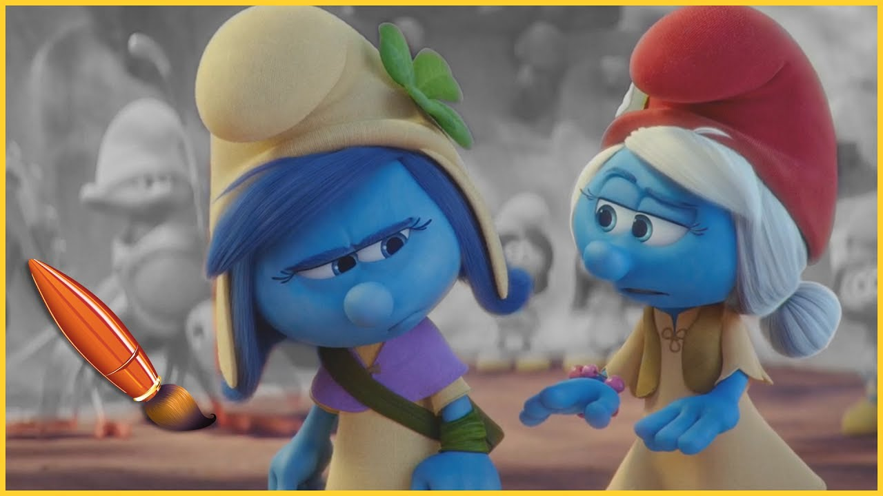 smurfstorm and smurfwillow kids coloring book coloring pages for